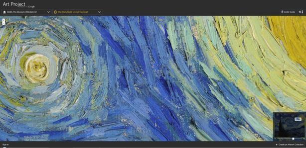 MoMA van gogh pormenor Amit Sood, Art Project, google, Google View Street, MoMA, pictures