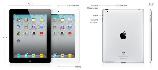 iPad2 características técnicas