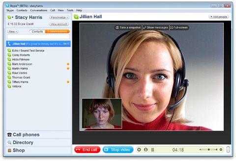 skype video chamada