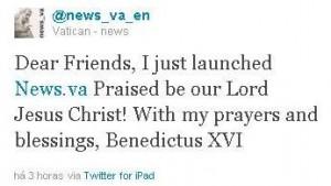 Bento XVI tweeta