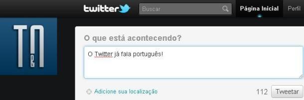twitter fala português
