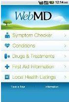webMD screenshot1 10 aplicativos para controlo da saúde que tem de conhecer