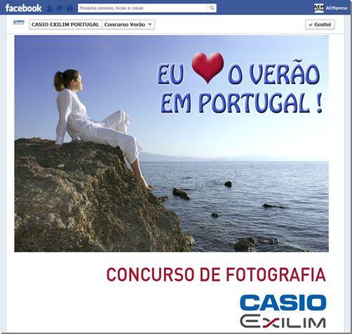 Casio Exilim Portugal lança concurso no Facebook