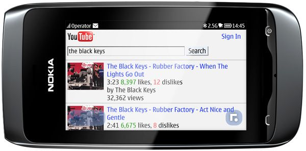 Nokia Asha 308 com Nokia-Xpress-Browser