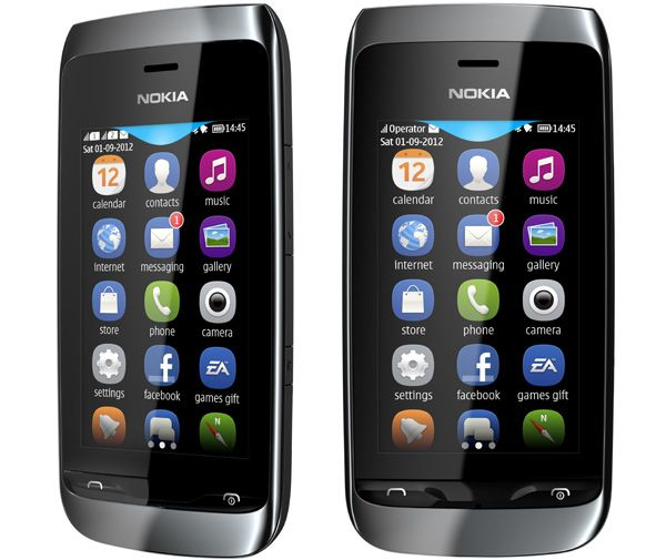 Nokia Asha 308 e Nokia Asha 309 com um ecrã capacitivo