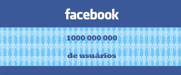 facebook ultrapassa i bilhão de utilizadores