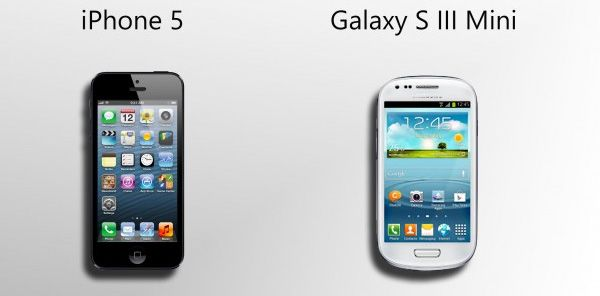iPhone 5 e Galaxy S3 Mini