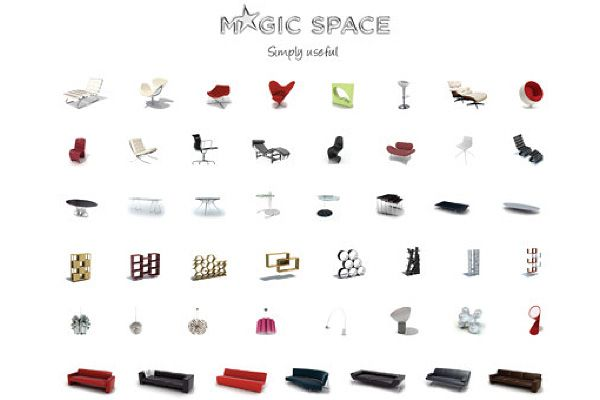 Magic Space biblioteca de produtos 3D
