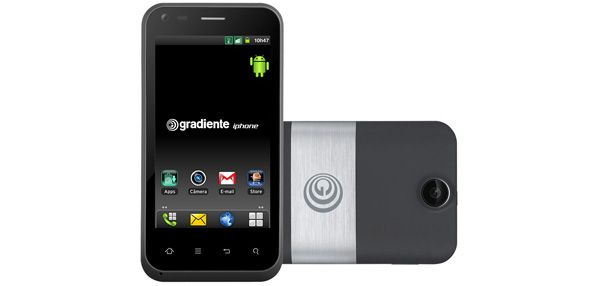 Smartphone Gradiente Neo One GC 500 SF  Dual Chip  Android 2.3.4  3G