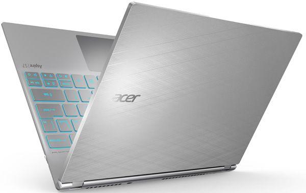 Acer Aspire S7 Series com Teclado Retroiluminado que se Ajusta Automaticamente