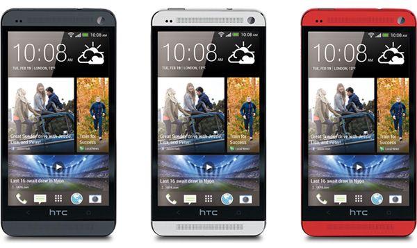 HTC One: cinza, preto e vermelho