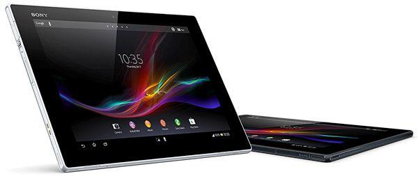 O Xperia Tablet-Z-cores-preto-e-branco