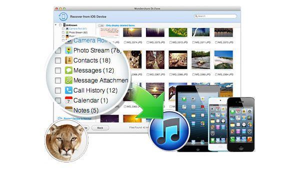 Dr.Fone para Mac: software de recuperação de dados de dispositivos Apple