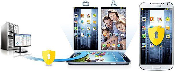 Samsung Galaxy S4 com o software Knox