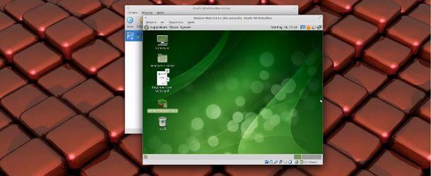 Manjaro 0.8.5.2 Com a interface Mate