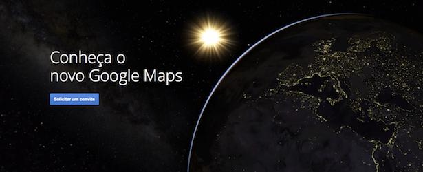 conheça o novo google maps
