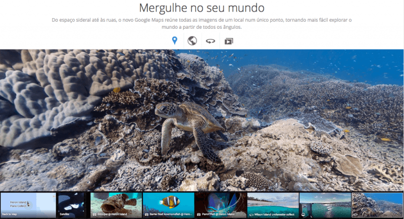 mergulhe no seu mundo google maps