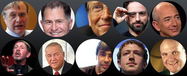 Top 10 fortunas do mundo da tecnologia