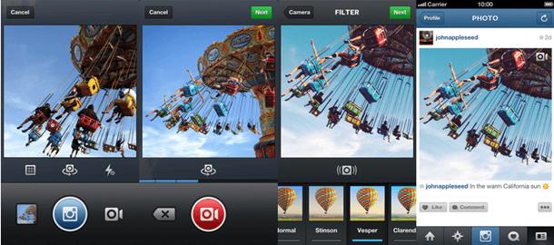 Instagram ganha função de vídeos de 3 a 15 segundos e até 13 filtros diferentes para aplicar às filmagens