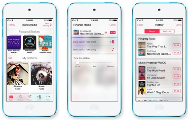 O iTunes Radio estará disponível para iPhone, iPad, iPod Touch, Mac, PC e Apple TV