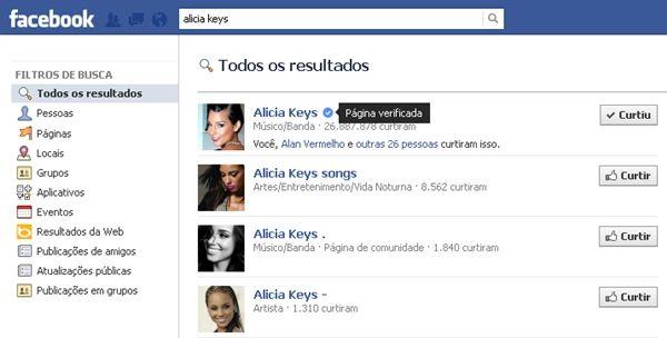 O ícone de verificação ficará visível na timeline, nos resultados de buscas e em vários outras partes do Facebook