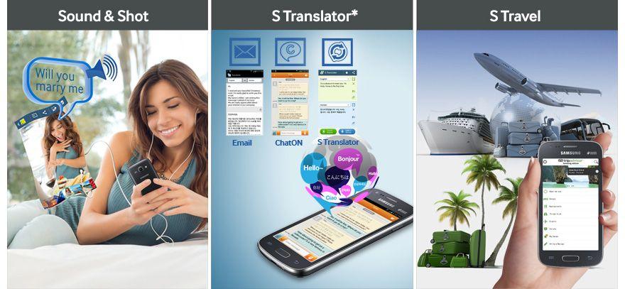 Galaxy S II: S Travel, S Translator, Foto com Som