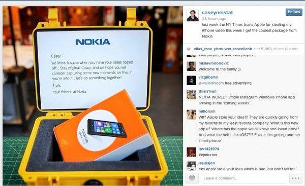 Casey Neistat Apple e presente Nokia
