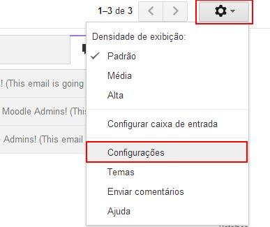 gmail-configuração