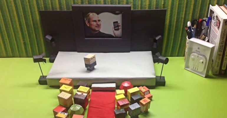Steve-Jobs-Stop-motion-video