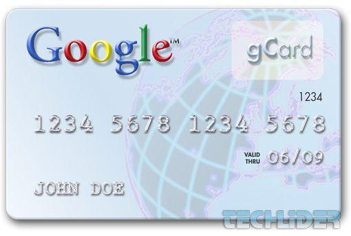 Google cartão de débito