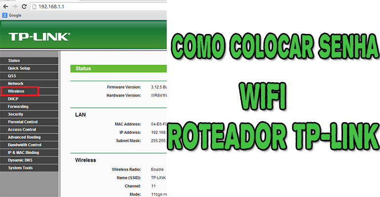 Como Colocar Ou Mudar A Senha WiFi Do Roteador TP-Link