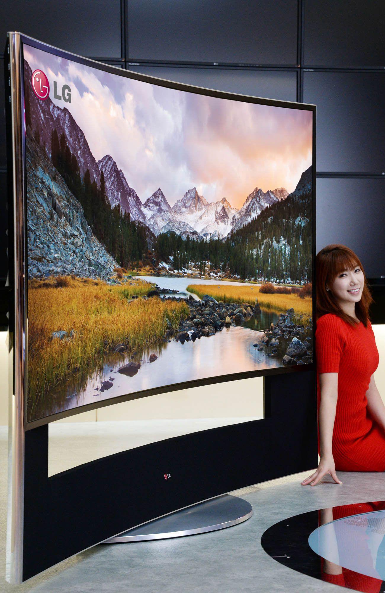 Primeiro televisor LG UHD de ecrã Curvo com 105''