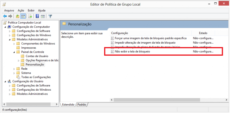 Como desabilitar tela de bloqueio no windows 8 foto 5