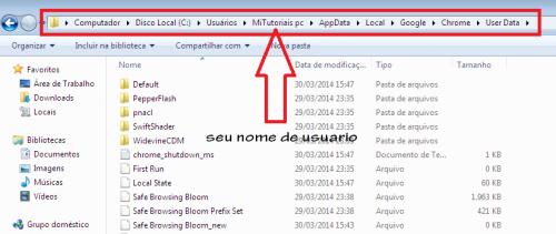 Como restaurar o perfil do Google Chrome  3