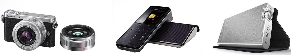 Lumix GM1 / telefone sem fios PRW110 / sistema de altifalantes sem fios NA10.