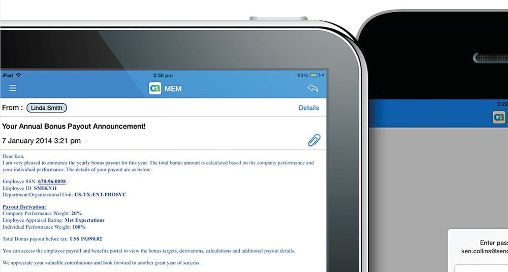 CA Mobile Email Management