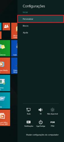 Como mudar a cor do Windows 8.1 passo2