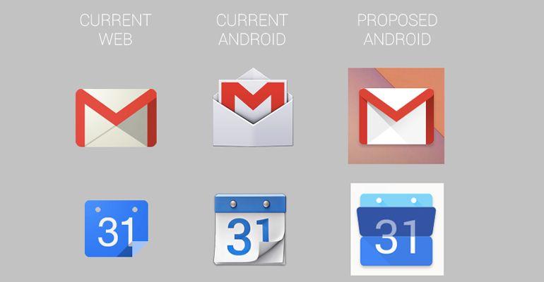 Ícones Google actualização