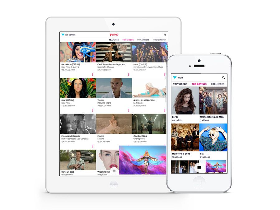 vevo-3.0-ios-app - Desenhado para iPhone, iPad e iPod Touch