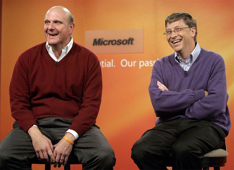 Steve Balmer Microsoft Bill Gates