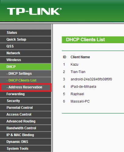 Como fixar endereço IP através da reserva no DHCP (4)
