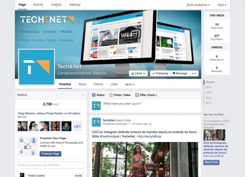 A página do TecheNet já segue o novo padrão. Clique aqui para conferir.
