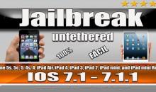 Jailbreak untethered iOS 7.1 / 7.1.1 para iPhone 5s, 5c, 5, 4s, 4,iPad com Pangu (Windows)