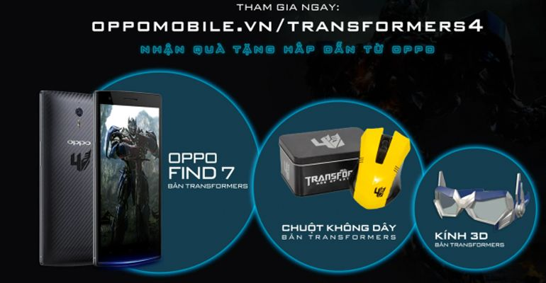 Oppo Find 7 Transformers Edition