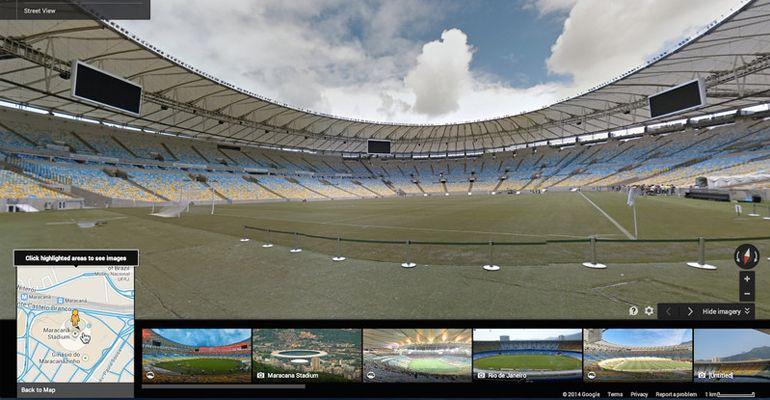 Google Street View estádios Mundial Brasil