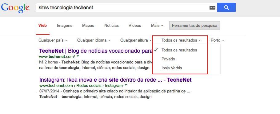 4. Google_outros filtros | TecheNet