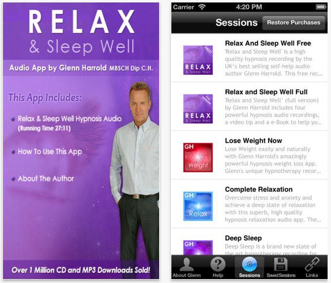 Relax & Sleep Well by Glenn Harrold: Se a sua mente é inquieta e dormir é sempre um desafio, o aplicativo Relax & Sleep é uma opção. A proposta do programa é oferecer um recurso de auto-hipnose por meio de um texto lido pelo hipnoterapeuta britânico Glenn Harrold. O áudio tem, aproximadamente, 27 minutos. O aplicativo está disponível para Android e iOS, da Apple. É importante lembrar que o app está em inglês e não foi traduzido para o português.