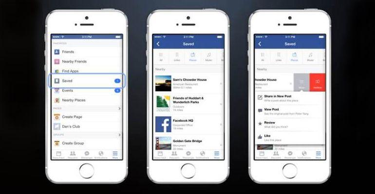 Facebook lança serviço Save