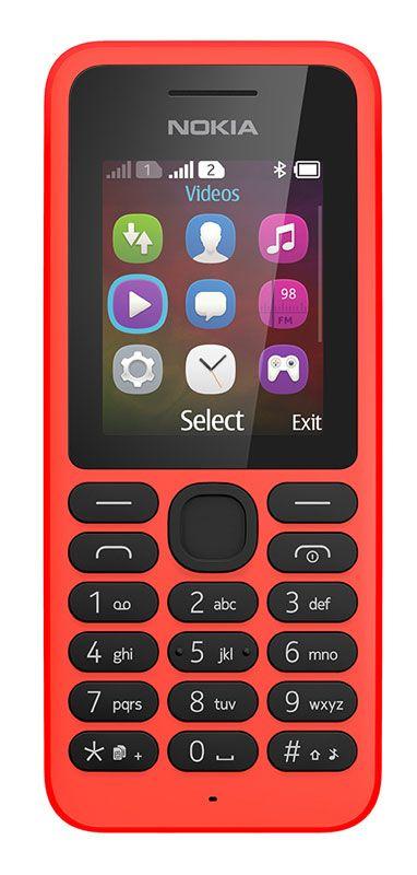 Nokia 130 com ecrã de 1,8 polegadas