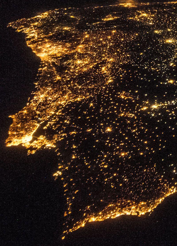 Fotografia de Portugal capatada pela Estação Espacial Internacional